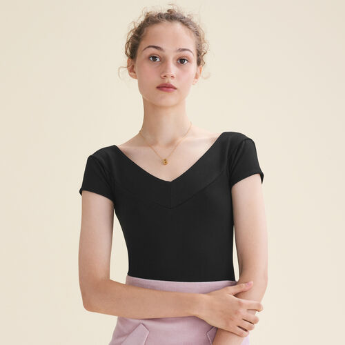 Short-sleeved bodysuit : T-Shirts color Black 210