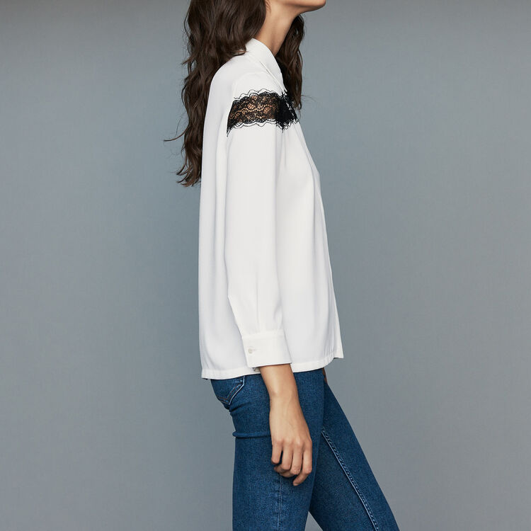 Blouse with lace : Ready to wear color Ecru