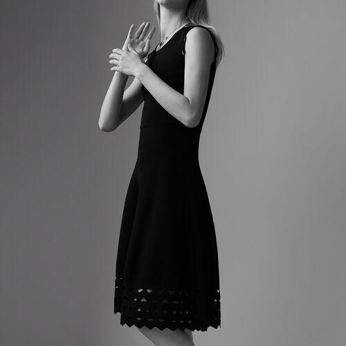 Sheer knit dress : Dresses color Black 210