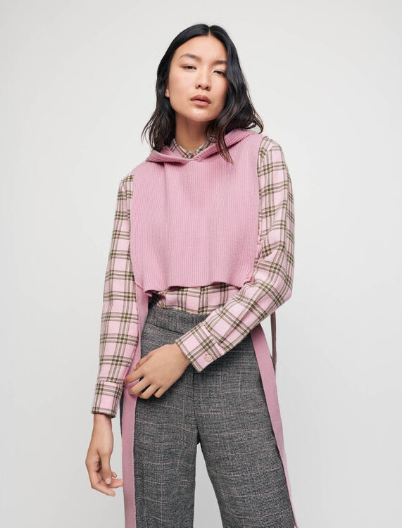 Knit collar with hood - Pullovers & Cardigans - MAJE