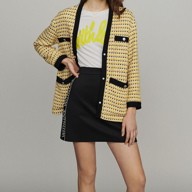 Jacket in tweed and lurex -  - MAJE