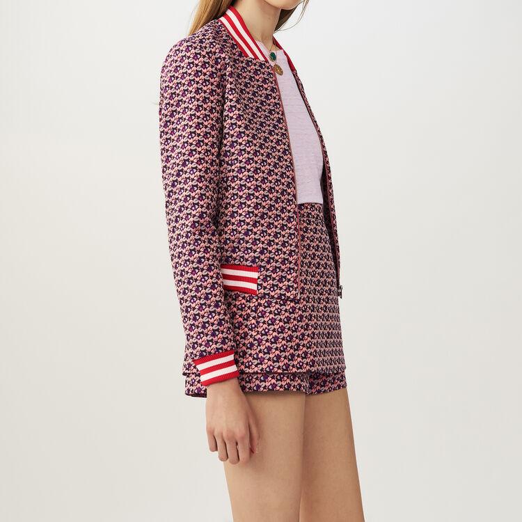 Cropped jacquard jacket : Jackets color Jacquard