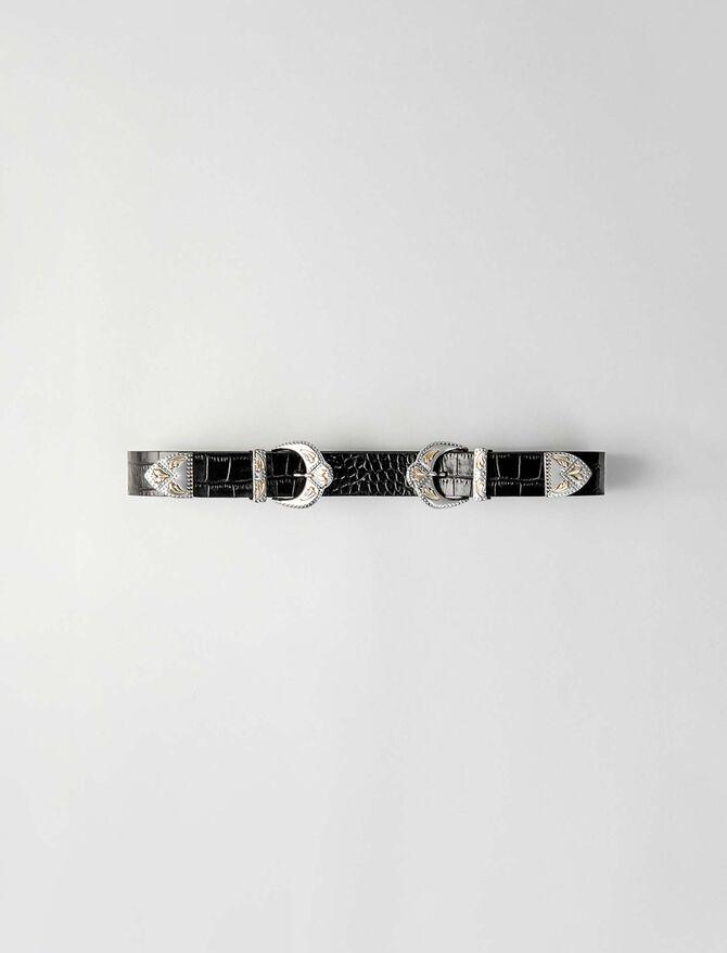 Western double buckle belt - All accessories - MAJE