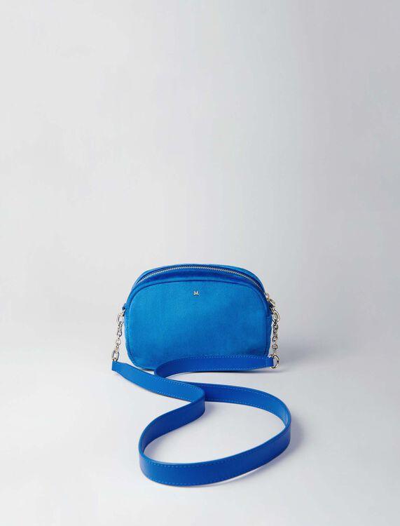 Quilted velvet shoulder bag : Sami bag color Blue