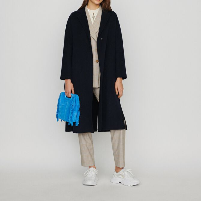 Double-face wool coat with belt - See all - MAJE