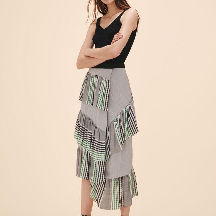 Midi frilled skirt - -50% - MAJE
