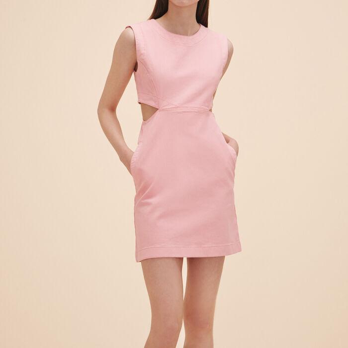 Sleeveless denim dress : Dresses color Pink