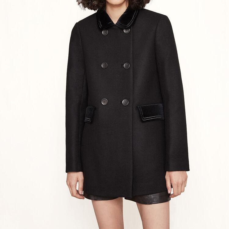Short coat with velvet details - See all - MAJE