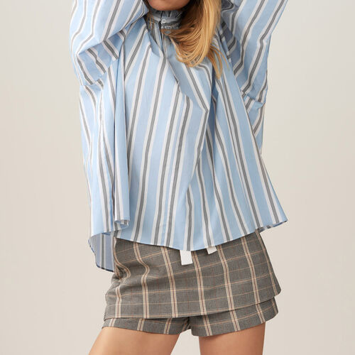 Striped blouse with frills - Pre-collection - MAJE