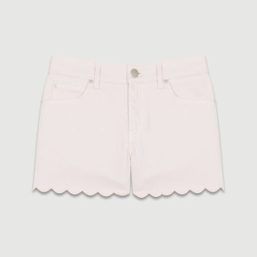 Jean shorts with novelty seaming : Skirts & Shorts color Pink