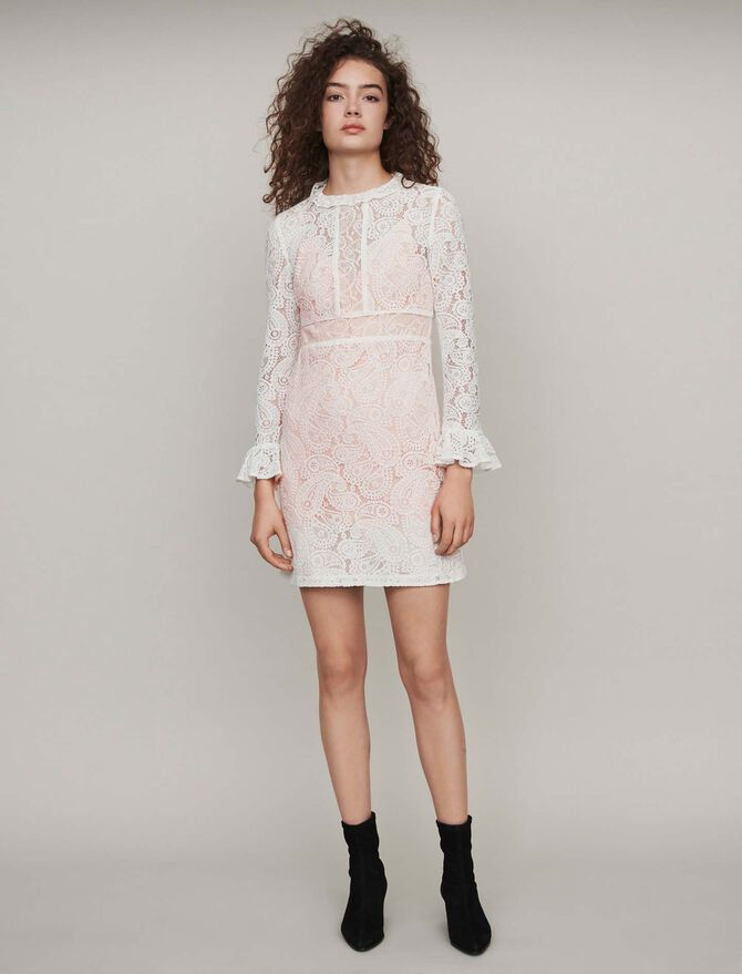 Dress with cashmere detail - Best Sellers - MAJE