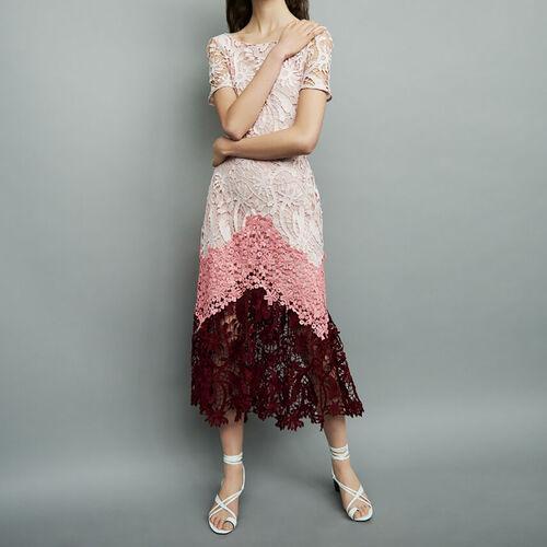 Long dress in mesh : Dresses color Multico