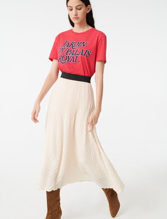 Geometric pleated skirt - Skirts & Shorts - MAJE