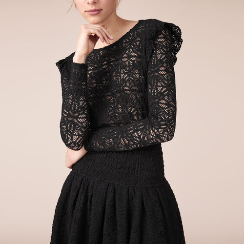 Short lace dress : Dresses color Black 210