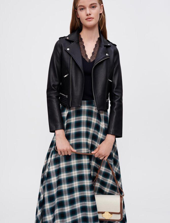 Leather biker jacket - Coats & Jackets - MAJE