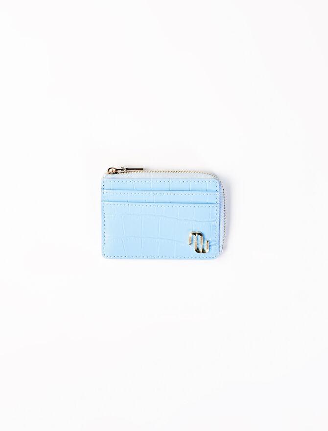 Embossed leather card holder -  - MAJE
