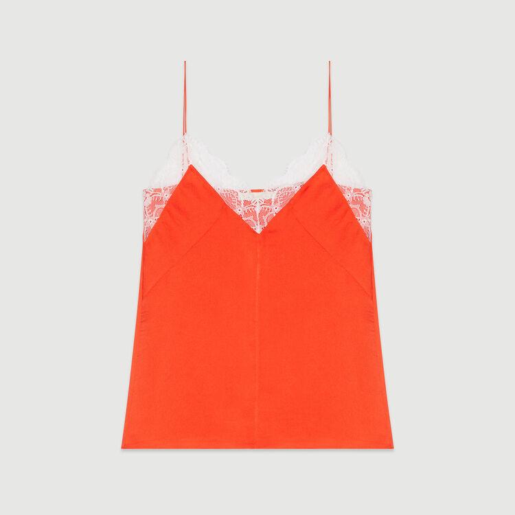 Lace camisole : Tops & Shirts color Orange