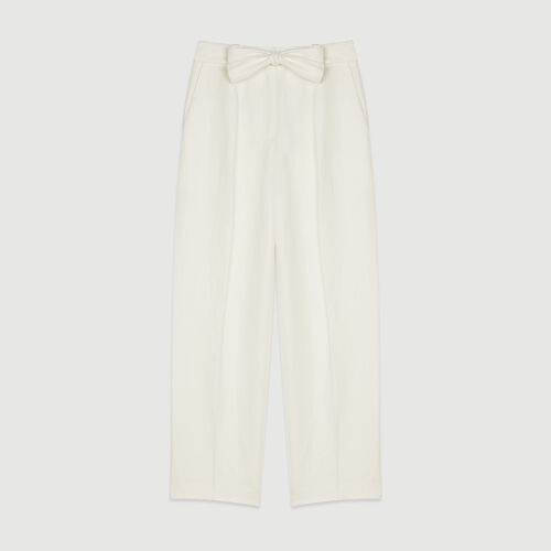 Pleated pants : Trousers & Jeans color White