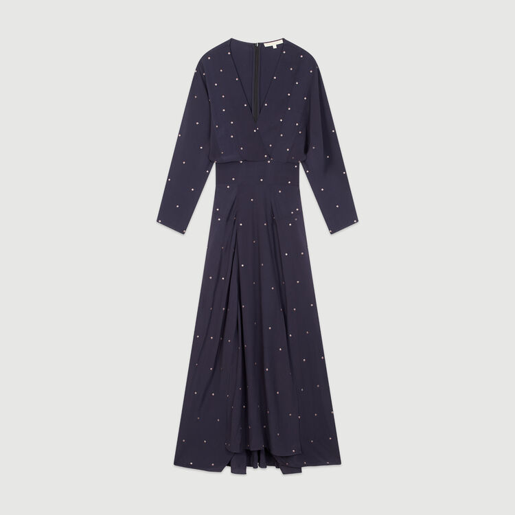 Scarf dress with studs : Dresses color Navy