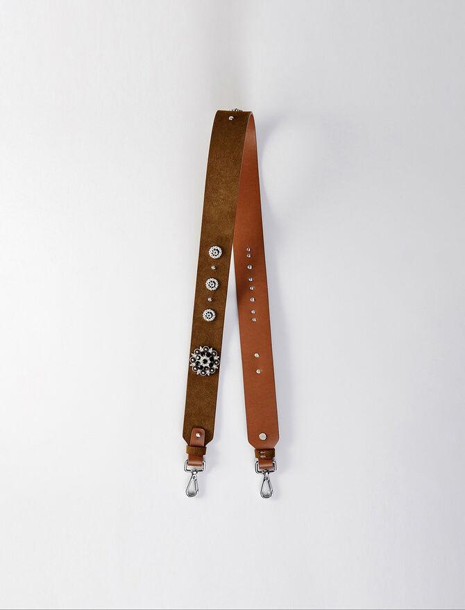 Studded suede shoulder strap - Straps - MAJE