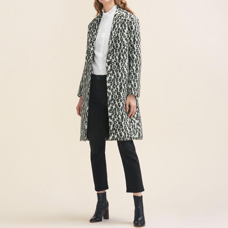 Leopard-print frock coat : Coats color Print