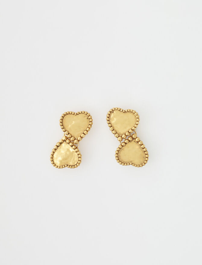 Gold-plated heart earrings - Jewelry - MAJE