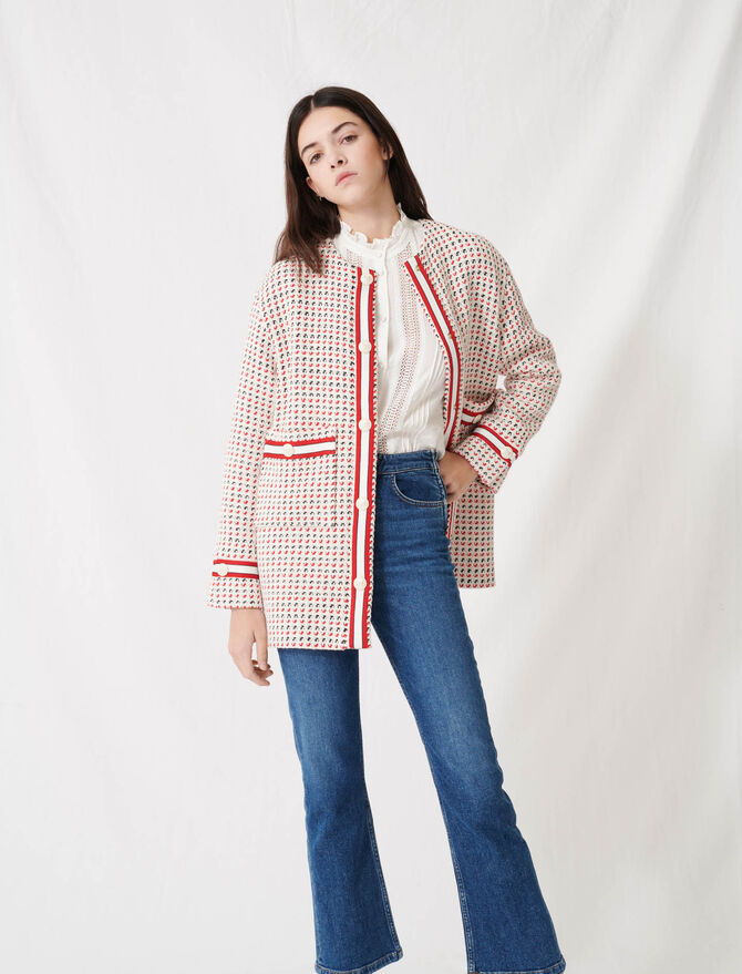 Short preppy tweed-style coat - All the collection - MAJE