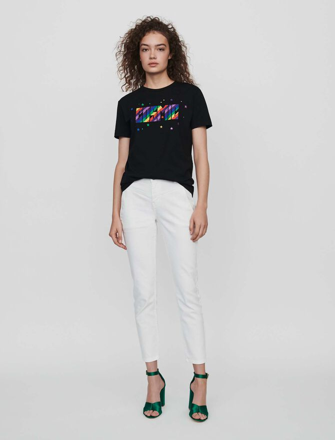 Embroidered tee shirt - Sweet little gifts - MAJE