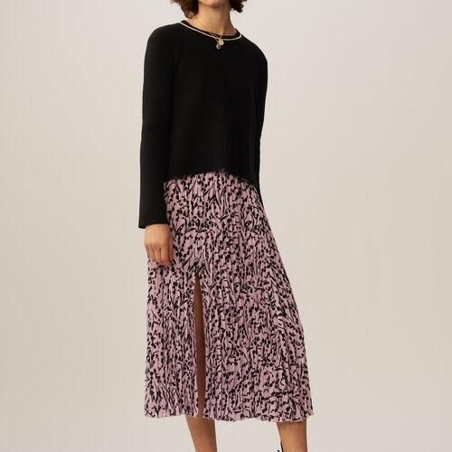 Long sleeves jumper : Knitwear color Black 210