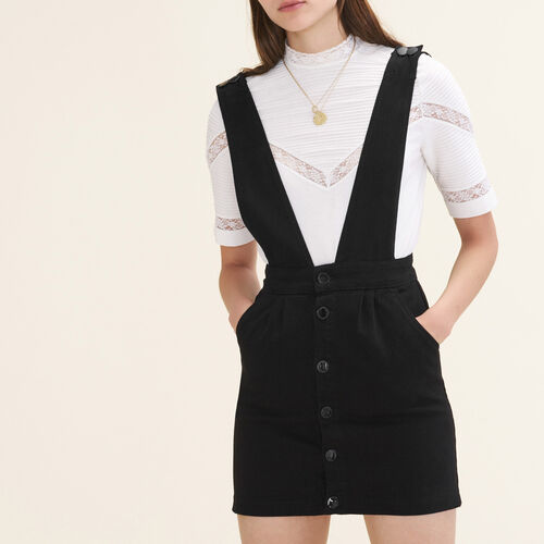 Denim strappy dress - Dresses - MAJE