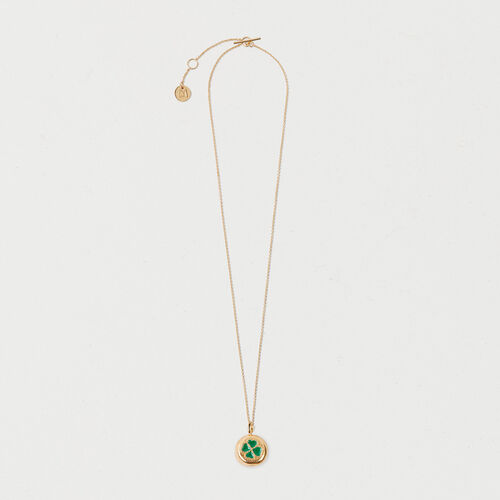 Four-leaf clover necklace : Collection color GOLD