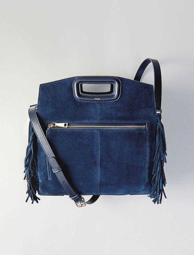Suede M Walk bag - Totes & M Walk - MAJE