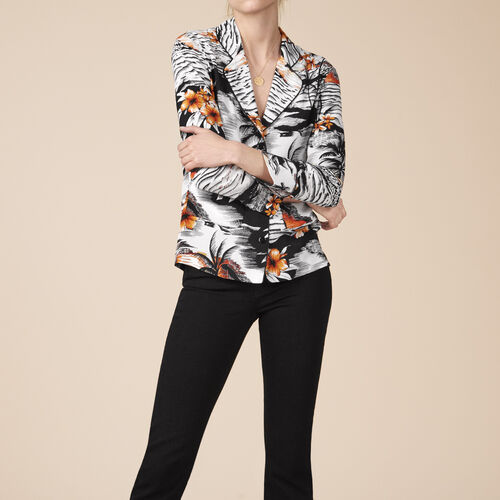 Pyjama-style printed shirt - Tops - MAJE