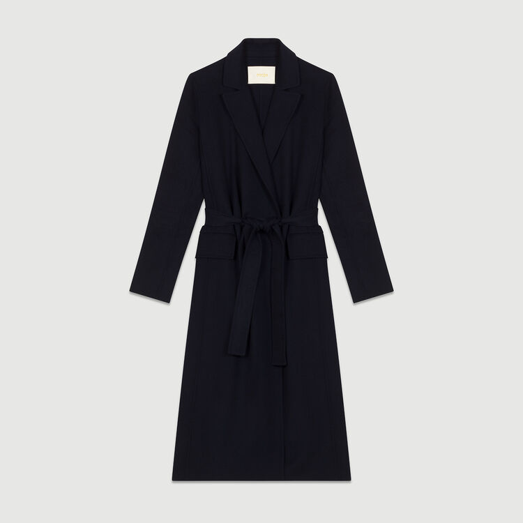 Long double-sided coat : Coats color Navy