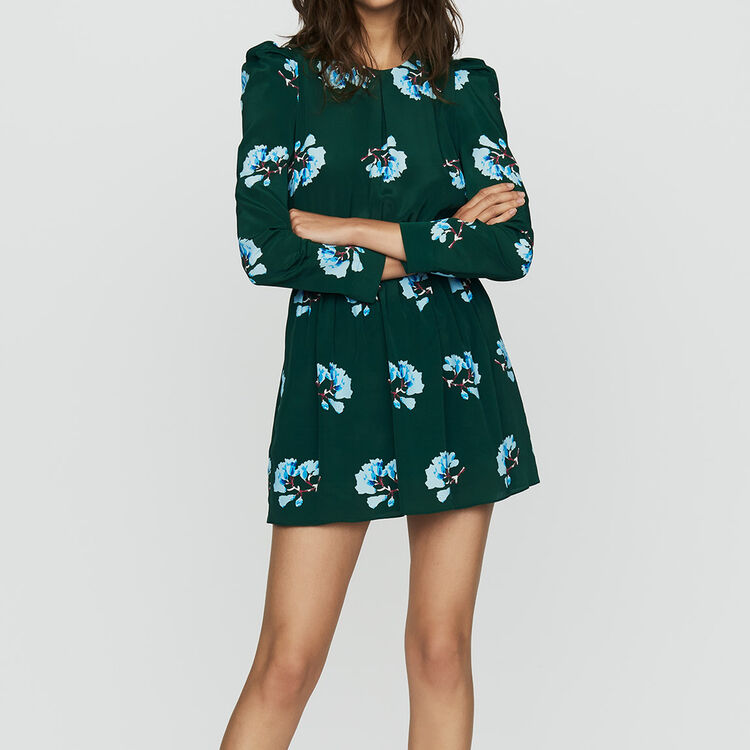 Short floral-print dress : Ready to wear color PRINTED
