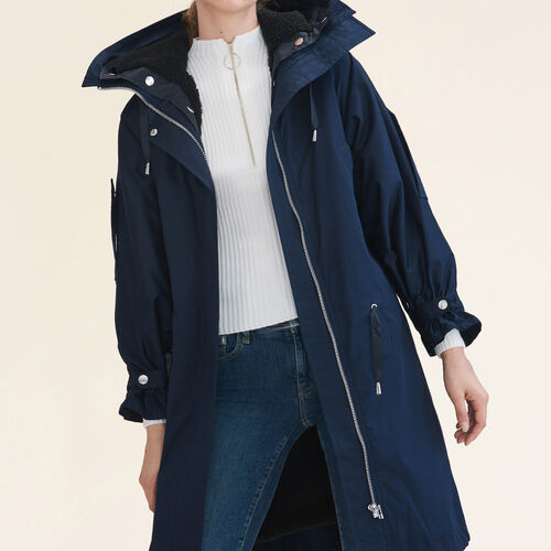 Long parka : Coats color Navy