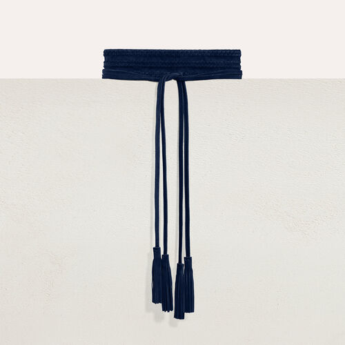 Wide suede belt : Belts color Black 210