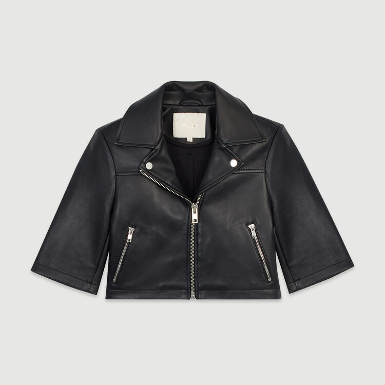 Leather jacket : Coats & Jackets color Black 210