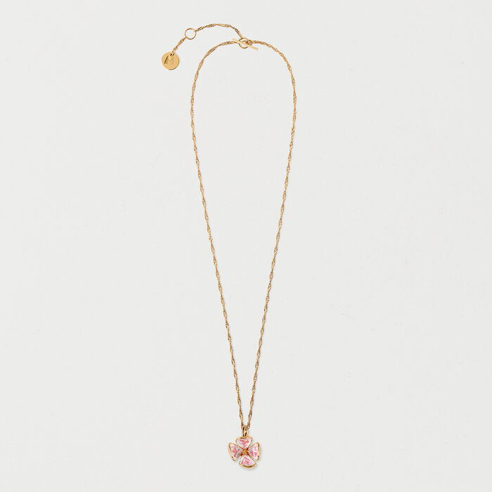p crystal necklace flower asp