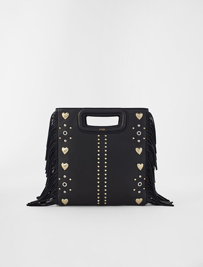 M leather bag with heart studs - tout - MAJE