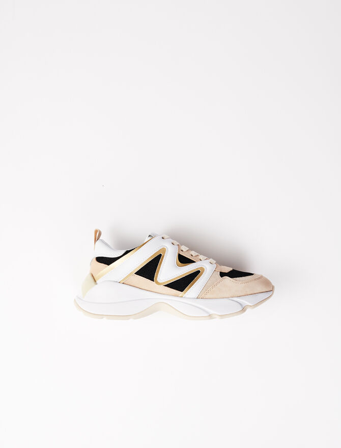 W22 material mix trainers - All Shoes - MAJE
