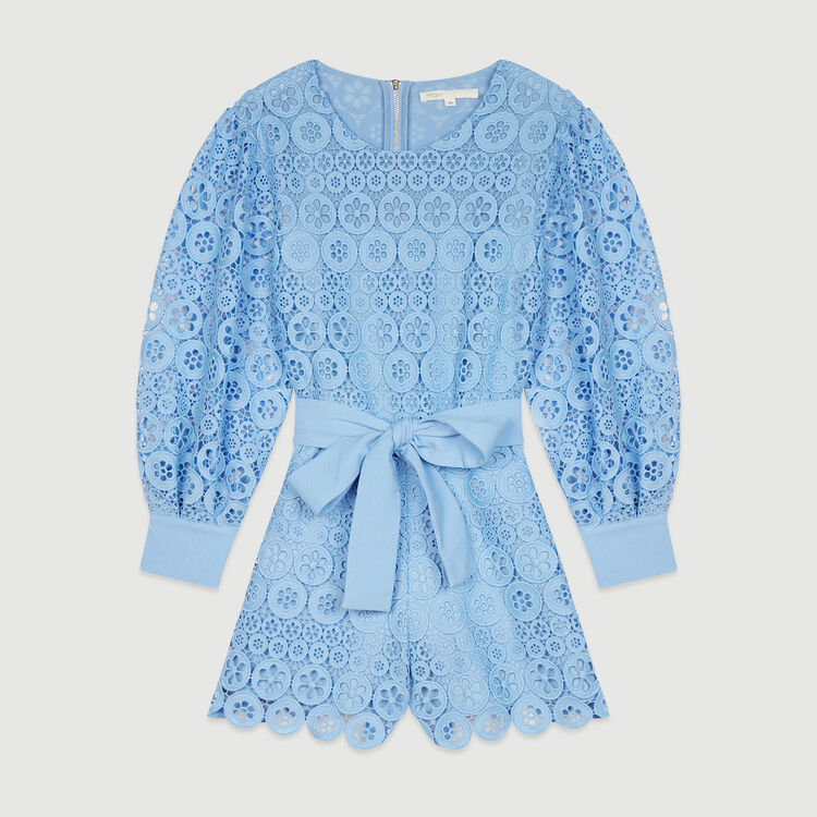 Romper in daisy guipure : Skirts & Shorts color Blue