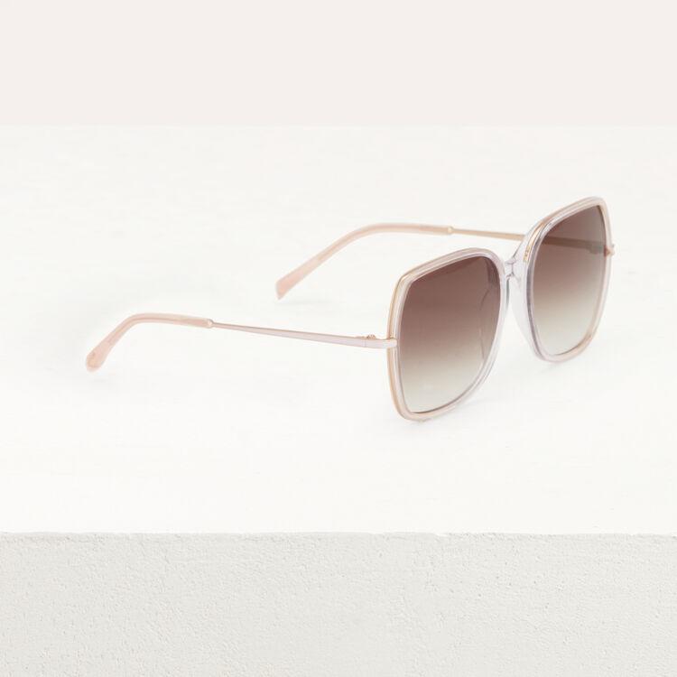 Lunettes de soleil en acétate et métal : Eyewear color Pink