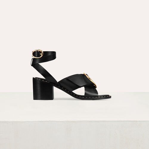 Sandal with buckle : See all color Black 210