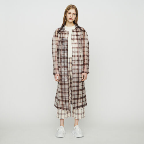 Transparent checkered windproof jacket : Coats color CARREAUX