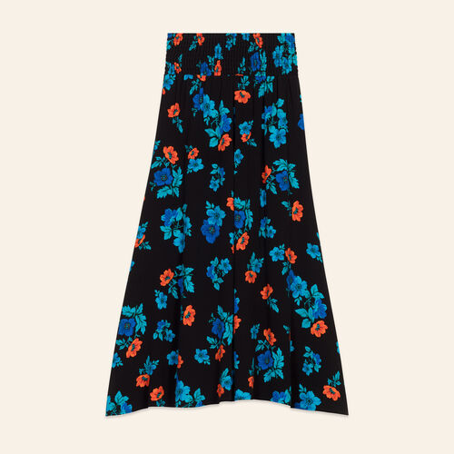 Skirt with floral embroidery : Skirts & Shorts color PRINTED