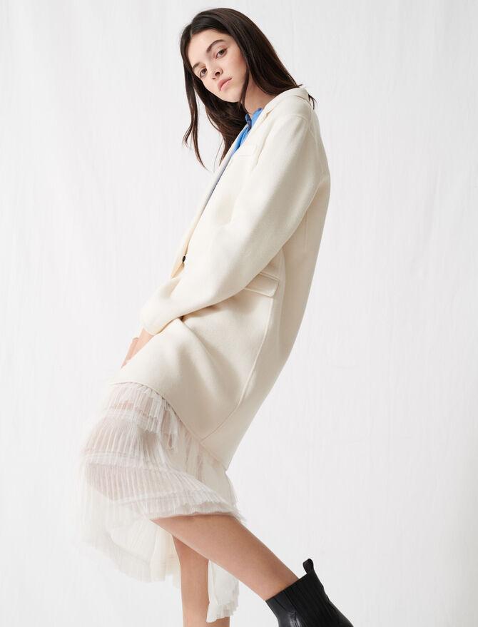 White double-faced midi coat - Coats - MAJE