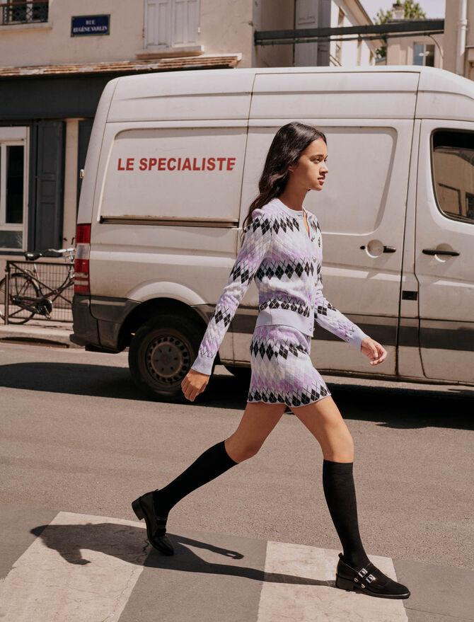 Argyle jacquard cardigan - Pullovers & Cardigans - MAJE