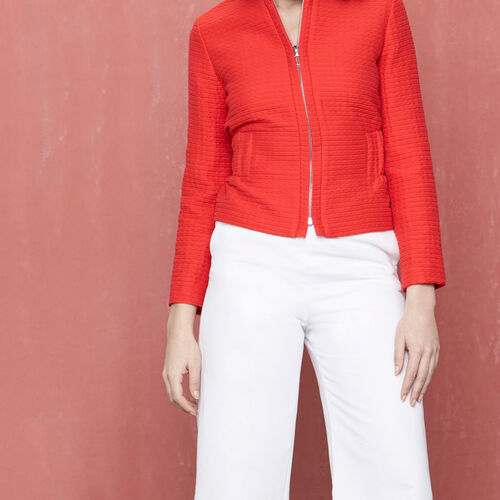 Jacket with elasticated waist : Blazers & Jackets color Red
