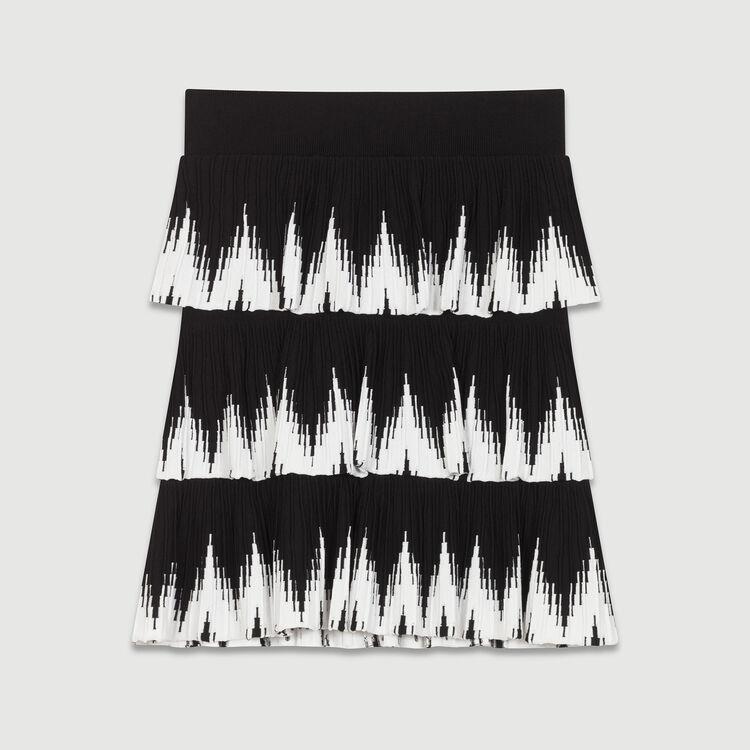 Mesh flounce skirt : Skirts & Shorts color Black 210